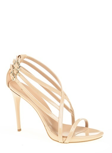 D by Divarese İnce Topuklu Ayakkabı Krem
